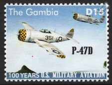 Republic P-47 / P-47D THUNDERBOLT US Militiary Aviation Fighter Aircraft Stamp