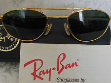NEW OLD STOCK RAY BAN B&L SUNGLASSES 46mm G-15 LENS CLASSIC GOLD WIRE AVIATORS