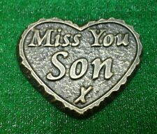 Son large GRAVE SIDE TRIBUTE GARDEN MEMORIAL HANDMADE NATURAL STONE HEART