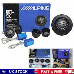 "Alpine Ddt-s30 25mm 1"" 360w Dome Balanced Car Speakers Tweeters Crossovers NEW"