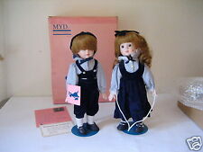 Pair Of Marian Yu Designs Myd Twins Brother Sister Boy Girl Porcelain Doll Nice