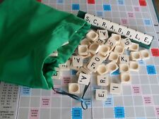 Green Scrabble tile letters  bag Drawstring bag, marbles