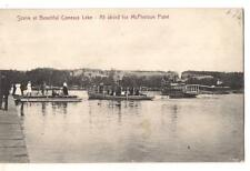 People At Conesus Lake Taking Ferry To McPherson Point NY PM1908 Postcard