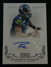 RUSSELL WILSON NATIONAL TREASURES CENTURY SIGNATURES AUTO AUTOGRAPHED CARD