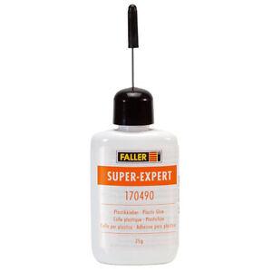 NEW Faller 170490 Super- Expert Plastic Glue -.9oz 25g FREE US SHIP