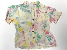 Diesel Toddler Girls New CUVVI BLOUSE TOP w/ FLORAL PRINT Sz: 2 RTL: $58 Q992