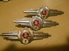 East German VoPo qualification badge set.