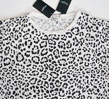 $590 NWT SAINT LAURENT Paris Leopard Printed 100% Cotton T-Shirt Top XXL/2XL