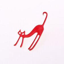 Brooch Pin Jewelry White Red Black 1Pcs Fashion Novelty Enamel Cat Blouse Collar