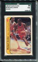 1986 Fleer Basketball Sticker #8 Michael Jordan Rookie Card Graded SGC MINT 9 96