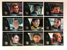 """STAR TREK THE MOVIE (2009) Complete """"STARS CAST"""" Chase Card Set (#S01-#S09)"""