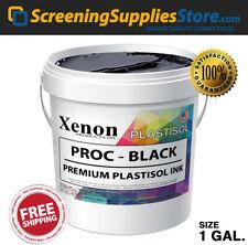 Xenon Process Black Plastisol Ink For Screen Printing 1 Gallon 128oz