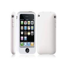 Coque silicone avec bouton tactile pour Apple Iphone 3G / 3GS couleur blanc