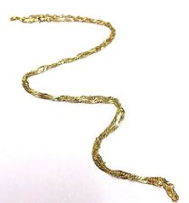 "Solid 10K Yellow Gold 22"" 2mm Shimmering Diamond Cut Rope Chain Necklace 