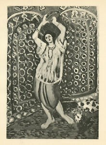 Henri Matisse (Danseur au tambourin) printed in 1929