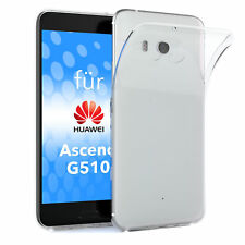 Schutz Hülle für Huawei Ascend G510 Case Silikon Handy Cover Transparent
