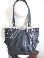 B. MAKOWSKY - Gorgeous Black Pebble Leather Shoulder Bag Size M