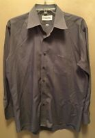 VALENTINO RUDY Mens small/medium Long Sleeve Button Front Dress Shirt ITALY Gray