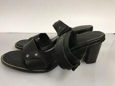 H.S. Trask Black Leather Sandals open toe Heels Pumps Size 8.5m