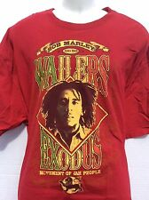 Bob Marley and the Wailers Exodus Movement of Jah People red T-Shirt sz 3XL XXL