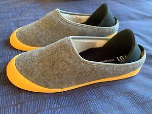 Mahabis Curve Slippers - Larvik Light Grey / Yellow UK Men Size 10-10.5 (EU 45)
