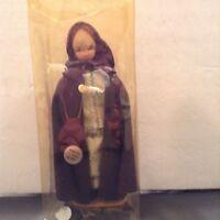 Vintage Souvenir Doll Hand Painted Cloth Fiber Mache Face Portugal