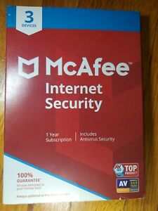 McAfee Internet Security NEW 3 Device PC Mac, iOS, Android  Antivirus 1 Year