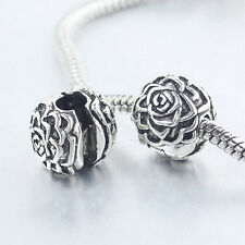 1Pc New Silver Plated Flower Safety Stopper Beads Fit Bracelets DIY Making CC