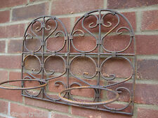 POT HOLDER Double Pot Ornate Garden Patio Consevatory Rustic Metal Wall Mount BN