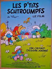 LES P'TITS SCHTROUMPFS    !  affiche cinema dessin peyo _l