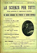 LA SCIENZA PER TUTTI # Quindicinale  - Anno XVIII - N.68 # 15 Novembre 1911