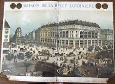 Ancienne Affiche Publicitaire XIX ème  Maison la belle jardinière Paris