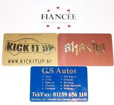 Customised Plastic Gift Cards x 100