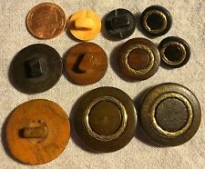 WOOD TOGGLE SHANK BUTTONS  WITH GOLD ACCENT 30mm