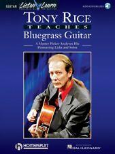 Tony Rice Teaches Bluegrass Guitar Music Tablature Book and Audio New 000695045