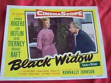 1954 BLACK WIDOW MOVIE LOBBY CARD #5 GINGER ROGERS GENE TIERNEY VAN HEFLIN