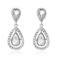 Lady Wedding Party Fashion Accessories Teardrop Long Dangle Stud Earrings Gifts