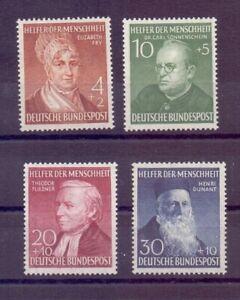 Bund BRD 1952 - MiNr 156/159 postfrisch Farbablagerungen - Michel 130,00 € (946)