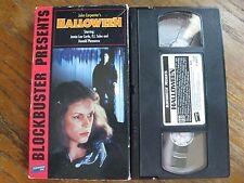 HALLOWEEN VHS BLOCKBUSTER JOHN CARPENTER HORROR SLASHER RARE HTF 1995