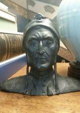 19th century grand tour bust of Dante Alighieri, aged bronze antique bust