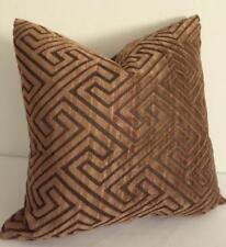 Choc Brown + Charcoal Softest Velvet Cushion Cover 45cm