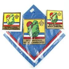 1973 National Jamboree Patch, Neckerchief, and Sticker Boy Scouts BSA