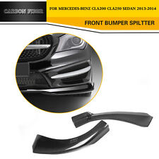 1 Pair Front Bumper Splitter Side Lips Fit for 13-14 Mercedes Benz CLA200 CLA250