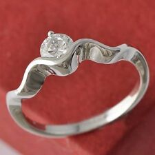 Engagement Size 6 White Gold Filled With Clear CZ Wedding Ring Free Shipping
