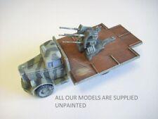 wargame vehicle.  WW2 German Opel Blitz + 2cm flak 1/56 scale kit for 28mm (822)