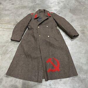 Vintage Military Soviet Woolen Overcoat Size XXL