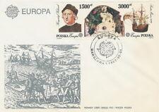 Poland FDC (Mi. 3377-78) Columbus Europe CEPT (III) #1