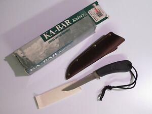 "KA-BAR USA Precision Hunter Long Point 4"" Fixed Blade Knife 1445 w/ Sheath/box"