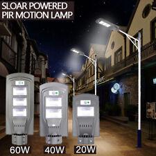 60W LED Solar Powered Outdoor Wall Street Light PIR Motion Sensor Lamp USA