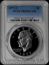 1977-S Clad Eisenhower Dollar PCGS PR69DCAM!! Wonderful quality specimens !!